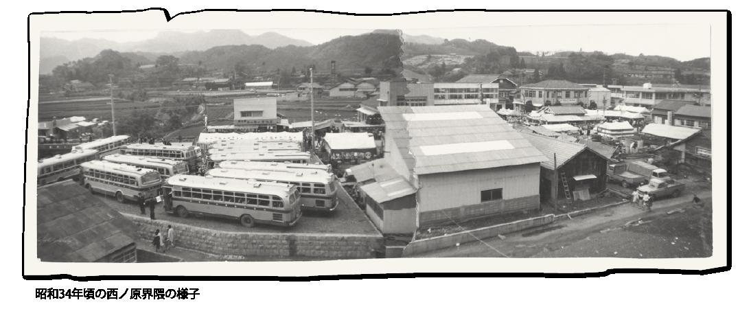 昭和34年頃の西ノ原界隈の様子